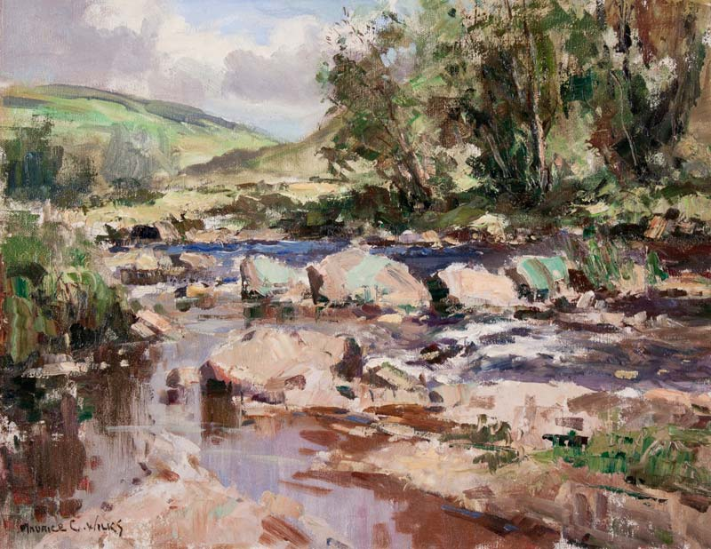 Maurice Canning Wilks ARHA RUA (1911-1984), Glenarm, Co. Antrim at Morgan O'Driscoll Art Auctions