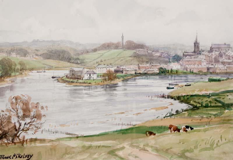 Frank McKelvey RHA RUA (1895-1974), Above the River's Bend at Morgan O'Driscoll Art Auctions
