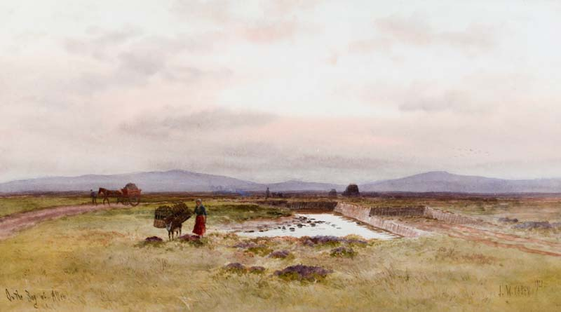 Joseph William Carey RUA (1859-1937), On the Bog of Allen at Morgan O'Driscoll Art Auctions