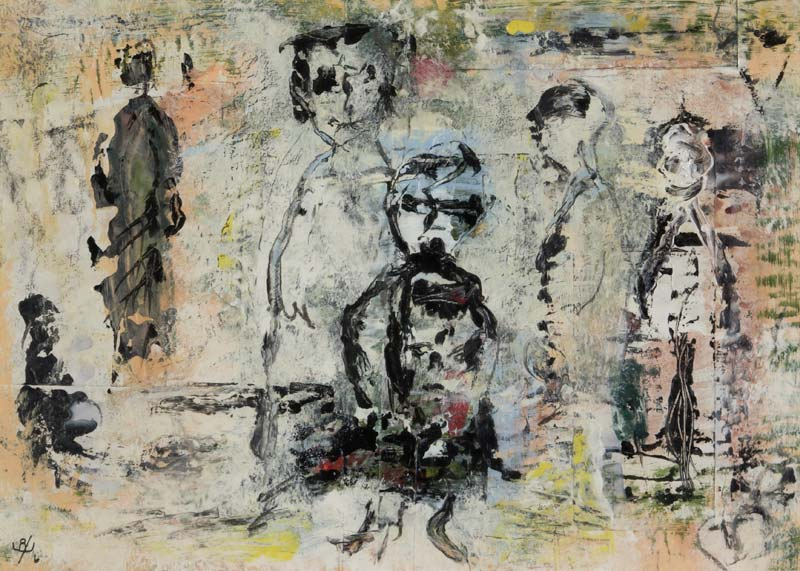 John Kingerlee (b.1936), Figures at Morgan O'Driscoll Art Auctions