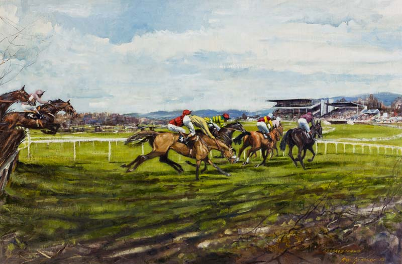 Roy Lyndsay (b.1945), Leopardstown at Morgan O'Driscoll Art Auctions