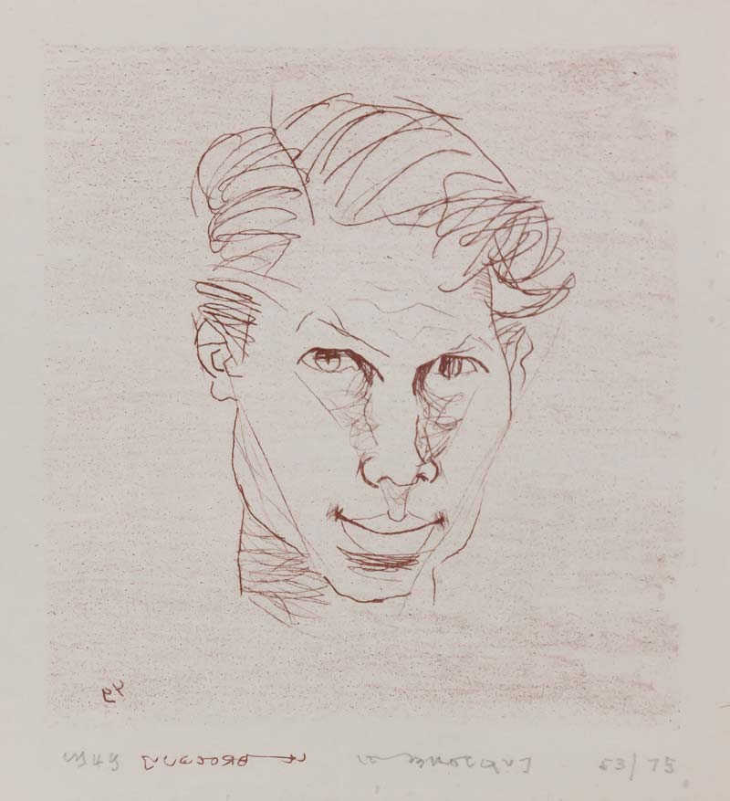 Louis Le Brocquy HRHA (b.1916), Self Portrait at Morgan O'Driscoll Art Auctions