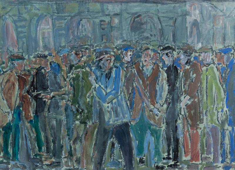 John Thompson (1924-2011) British, In the Crowd at Morgan O'Driscoll Art Auctions