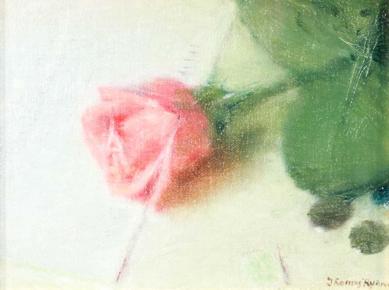 Thomas Ryan PPRHA (b.1929), Pink Rose at Morgan O'Driscoll Art Auctions