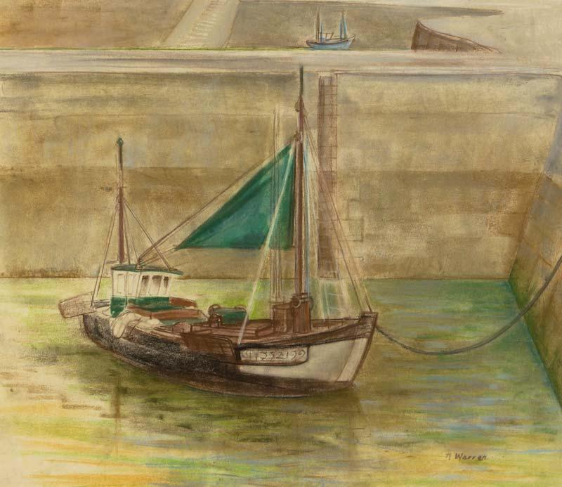 Barbara Warren RHA (b.1925), Boats in the Harbour, Honfleur 1984 at Morgan O'Driscoll Art Auctions