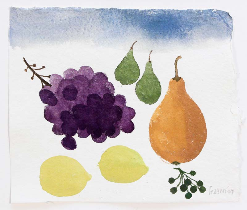 Mary Fedden RA (b.1915), Still Life with Grapes at Morgan O'Driscoll Art Auctions