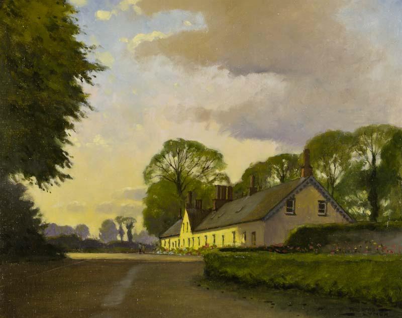 Padraig Lynch (b.1936), At Ballymascanlon at Morgan O'Driscoll Art Auctions
