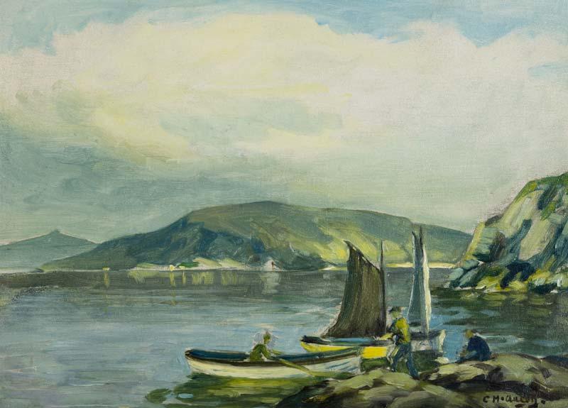 Charles J. McAuley RUA ARSA (1900-1999), Fisherman, Red Bay, Cushendall at Morgan O'Driscoll Art Auctions