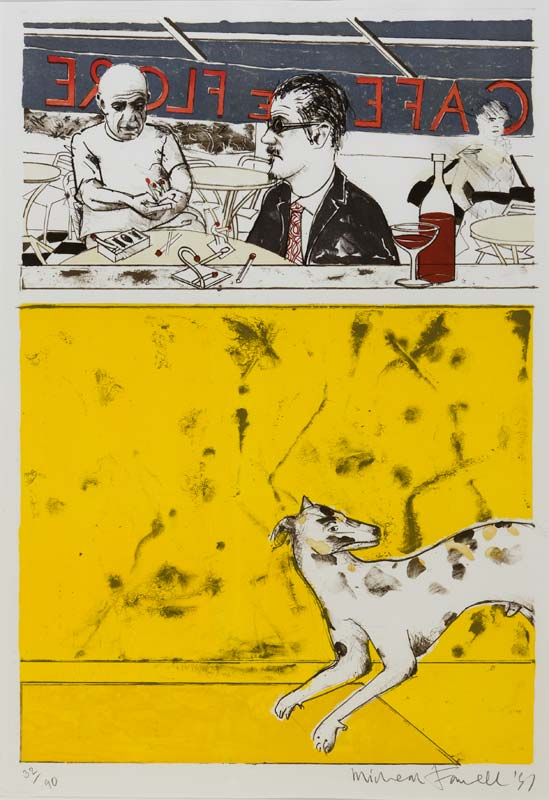 Michael Farrell (1940-2000), Café Le Flore at Morgan O'Driscoll Art Auctions