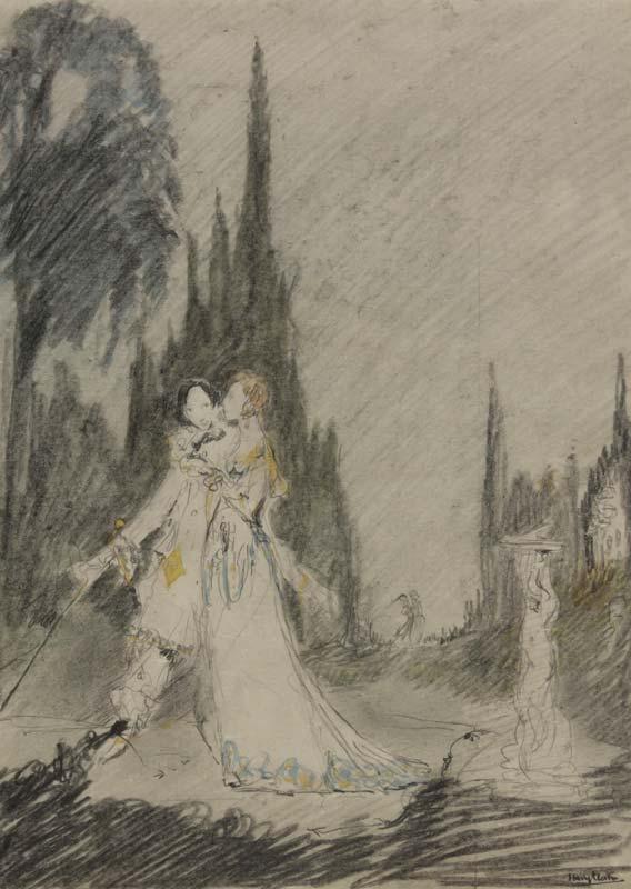 Harry Clarke (1889-1931), Garden Romance at Morgan O'Driscoll Art Auctions