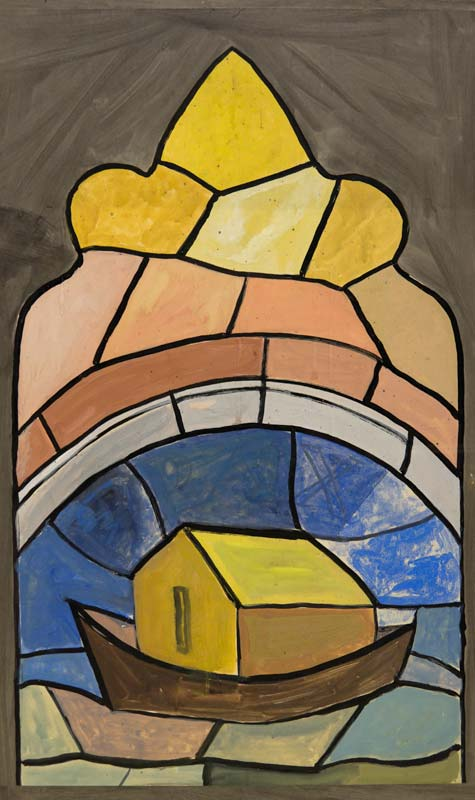 Evie Hone HRHA (1894-1955), Nona's Arch (Study for Stained Glass Window) at Morgan O'Driscoll Art Auctions