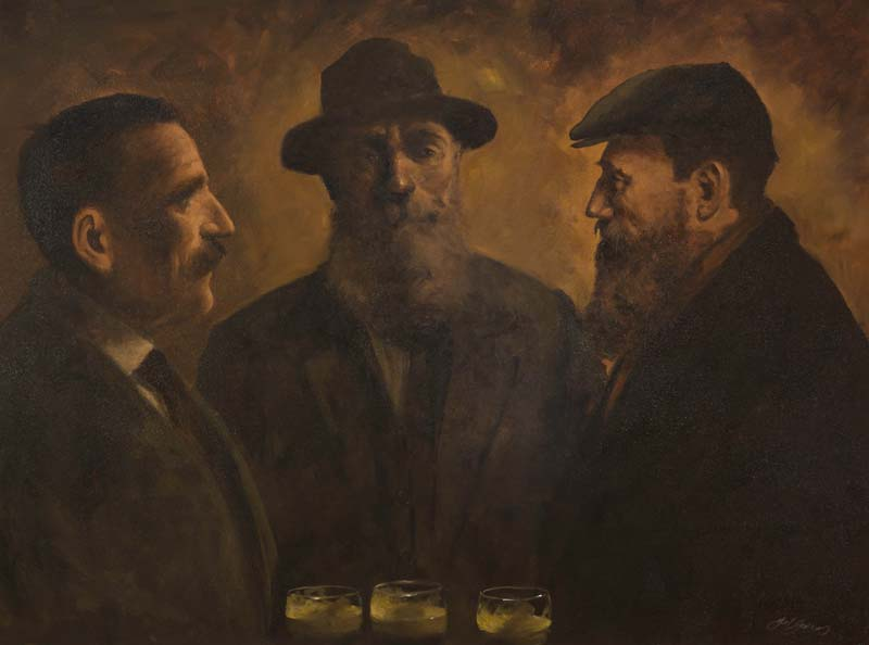 Ted Jones (b.1952), Old Pals at Morgan O'Driscoll Art Auctions