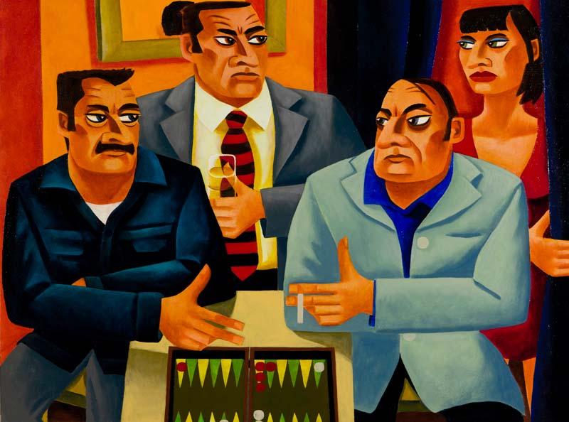 Graham Knuttel (b.1954), Backgammon Players at Morgan O'Driscoll Art Auctions