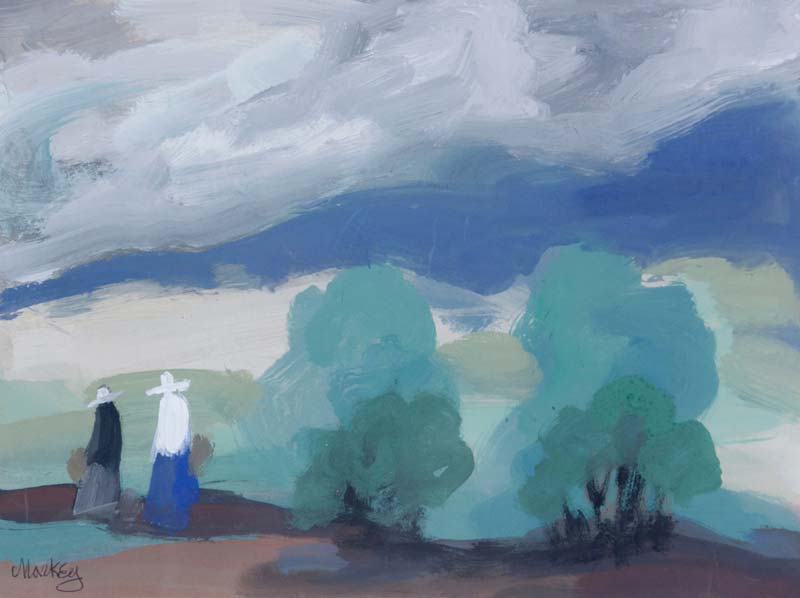 Markey Robinson (1918-1999), Landscape with Figures and Trees at Morgan O'Driscoll Art Auctions