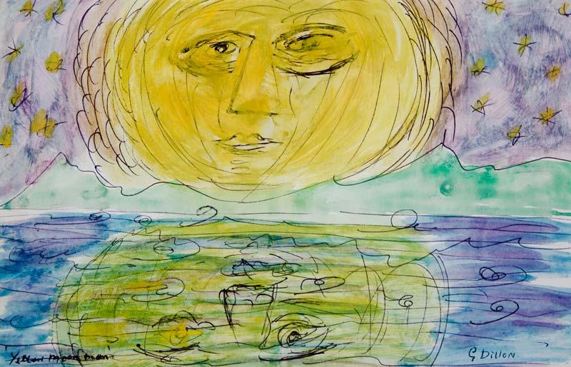 Gerard Dillon RHA RUA (1916-1971), Yellow Moon Man at Morgan O'Driscoll Art Auctions