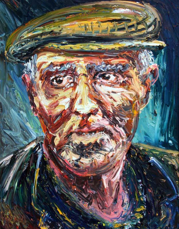 Liam O'Neill (b.1954), Man from Blasket Island at Morgan O'Driscoll Art Auctions