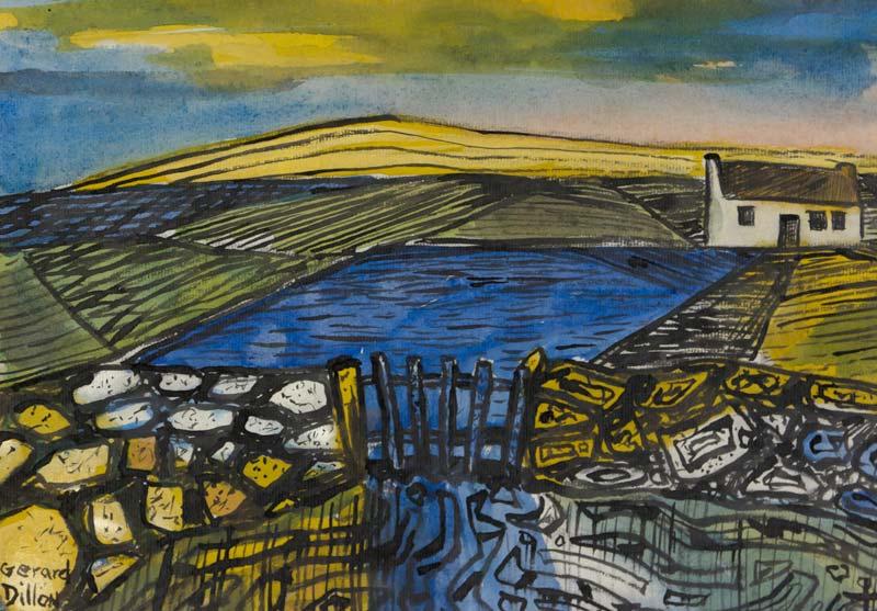 Gerard Dillon RHA RUA (1916-1971), Landscape with Cottage at Morgan O'Driscoll Art Auctions