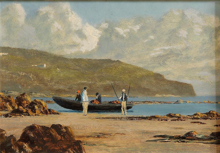 Ciaran Clear (20th/21st Century), Beaching a Currach at Morgan O'Driscoll Art Auctions