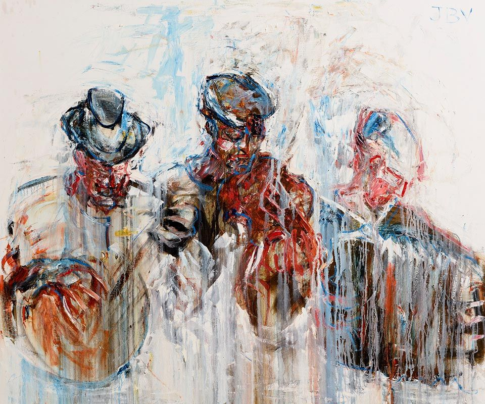 John Brian Vallely, The Three Travelling Musicians at Morgan O'Driscoll Art Auctions