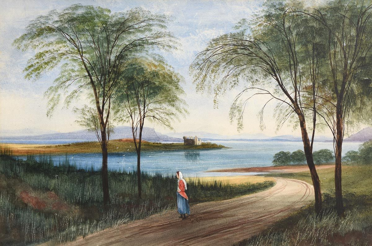Andrew Nicholl, The Road to the Shore at Morgan O'Driscoll Art Auctions