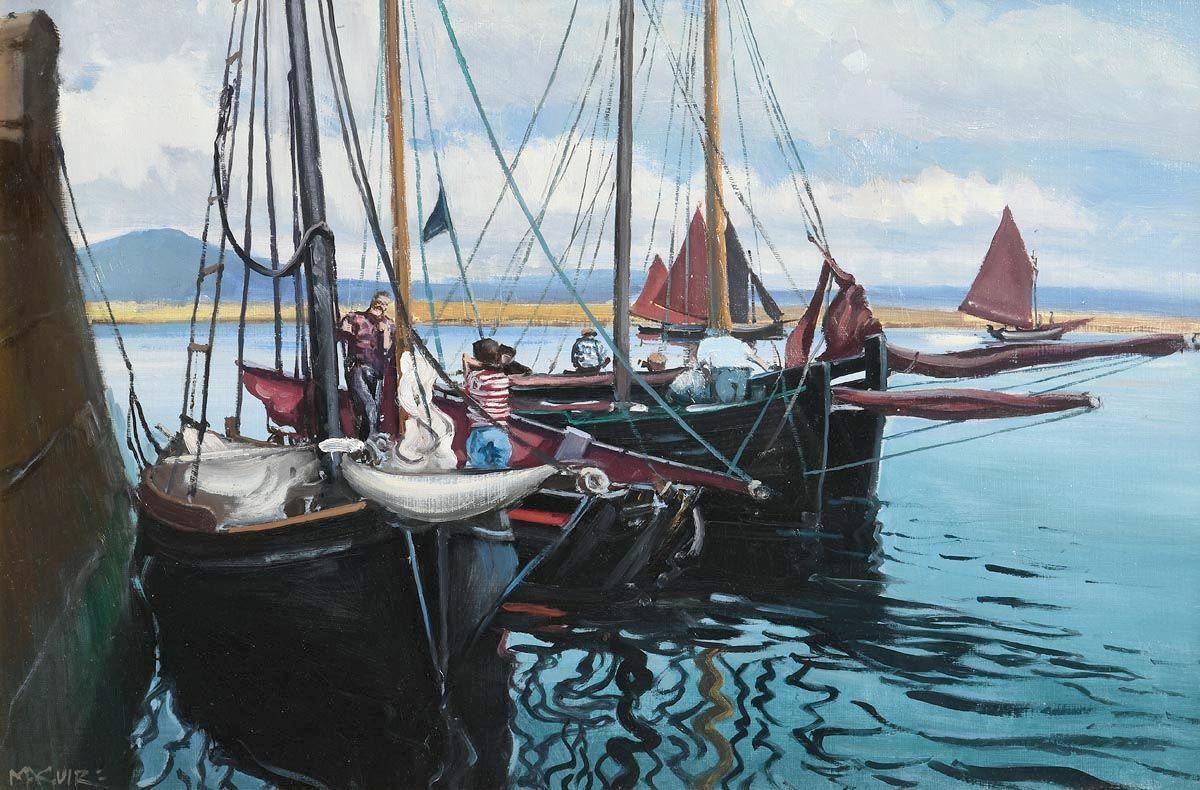 Cecil Maguire, Regatta, Roundstone at Morgan O'Driscoll Art Auctions