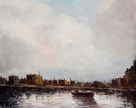 Norman J. McCaig (1929-2001), Boats on the Liffey at Morgan O'Driscoll Art Auctions