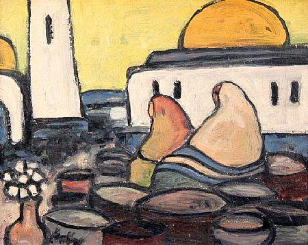Markey Robinson (1918-1999), Pots and Watchers at Morgan O'Driscoll Art Auctions