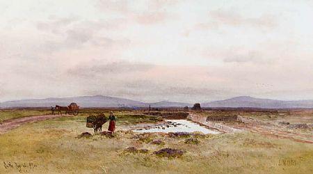Joseph William Carey RUA (1859-1937), On the Bog of Allen at Morgan O'Driscoll Art Auctions