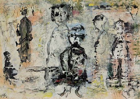 John Kingerlee (b.1936), Figures at Morgan O'Driscoll Art Auctions