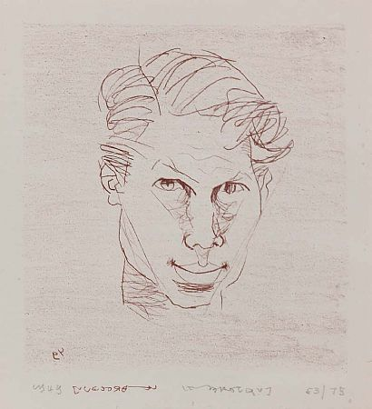 Louis Le Brocquy HRHA (b.1916), Self Portrait at Morgan O'Driscoll Art Auctions