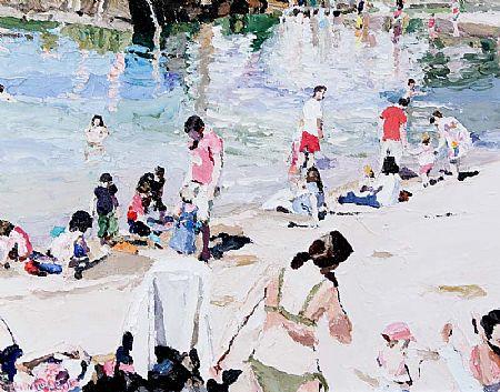 Stephen Cullen (20th/21st Century), Sandycove Beach at Morgan O'Driscoll Art Auctions