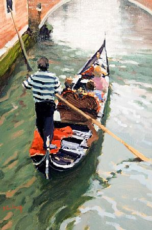 Peter Curling (b.1955), Lone Gondola at Morgan O'Driscoll Art Auctions