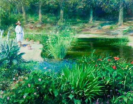 Thomas Ryan PPRHA (b.1929), Garden Pools at Morgan O'Driscoll Art Auctions