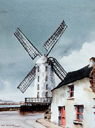 Val Byrne (20th/21st Century), The Windmill at Blennerville, Co. Kerry at Morgan O'Driscoll Art Auctions