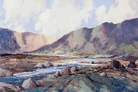 George Gillespie RUA (1924-1996), Sheffrey Hills, Louisburgh, Connemara at Morgan O'Driscoll Art Auctions