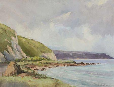 George Gillespie RUA (1924-1996), Garron Point, Antrim Coast Road at Morgan O'Driscoll Art Auctions