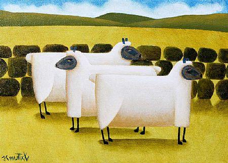 Graham Knuttel (b.1954), Sheep at Morgan O'Driscoll Art Auctions