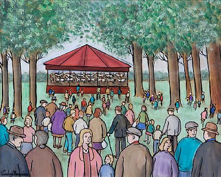 Gladys MacCabe ROI FRSA MA HRUA (1918-2018), Merry-Go-Round in the Park at Morgan O'Driscoll Art Auctions