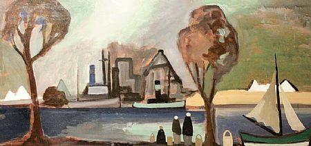 Markey Robinson (1918-1999), Three Figures at Night at Morgan O'Driscoll Art Auctions