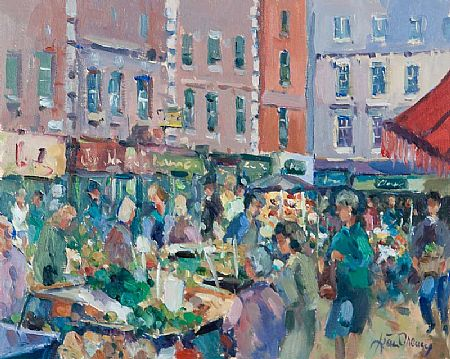 Liam Treacy RHA (1934-2005), Moore Street, Dublin at Morgan O'Driscoll Art Auctions
