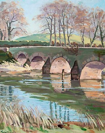 Robert Taylor Carson HRUA (1919-2008), Shaw's Bridge, River Lagan at Morgan O'Driscoll Art Auctions