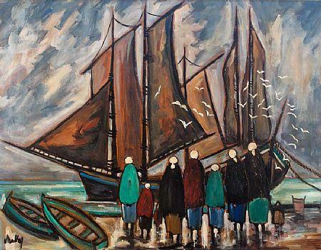 Markey Robinson (1918-1999), Gulls at Morgan O'Driscoll Art Auctions