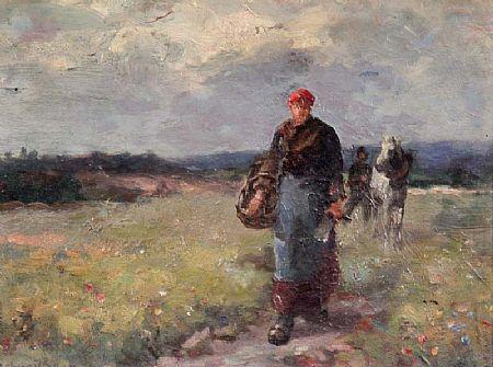 E. De Barre (19th/20th Century), Homeward at Morgan O'Driscoll Art Auctions