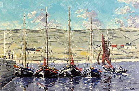 Ivan Sutton (b.1944), Galway Hooker Regatta, Kilronan, Inish Mor, Co. Galway at Morgan O'Driscoll Art Auctions
