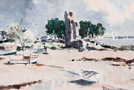 George Gillespie RUA (1924-1996), Old Ruin at Morgan O'Driscoll Art Auctions
