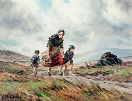 Charles J. McAuley RUA ARSA (1900-1999), On the Way Home at Morgan O'Driscoll Art Auctions