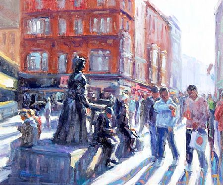 Norman Teeling (b.1944), Street Scene at Morgan O'Driscoll Art Auctions