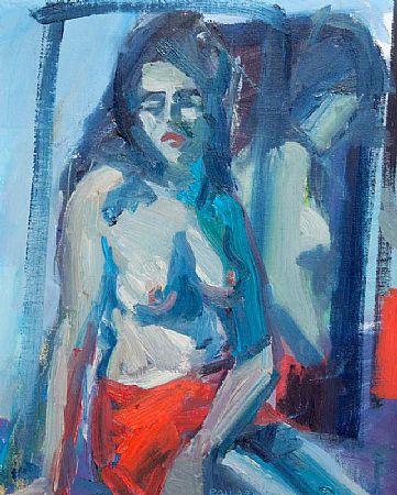 Brian Ballard RUA (b.1943), Women in Red Skirt at Morgan O'Driscoll Art Auctions