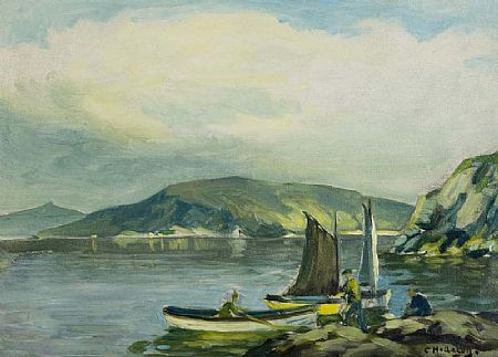 Charles J. McAuley RUA ARSA (1900-1999), Fisherman, Red Bay, Cushendall at Morgan O'Driscoll Art Auctions