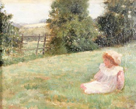 Samuel McCloy (1831-1904), Young Girl in Lanscape at Morgan O'Driscoll Art Auctions